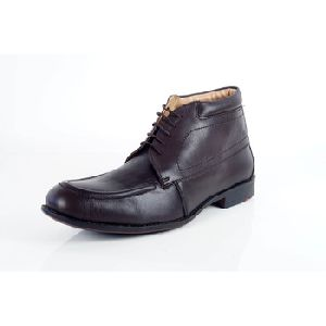 High Ankle Dark Brown Mens Formal Leather Shoes