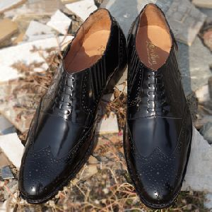 Welted Emperor Black Genuine Leather Formal Shoes