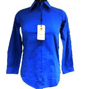 Ladies Blue Formal Shirt