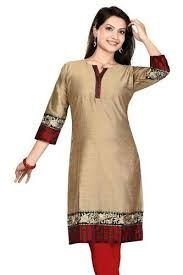 Ladies Long Silk Kurti