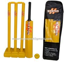 Business logo plastic cricket set