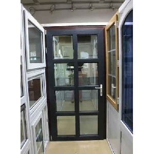 Black UPVC Casement Door