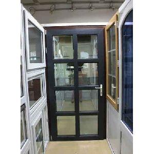 Black UPVC Casement Door