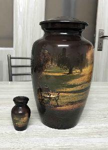 Printed Landscape Cremation Urn