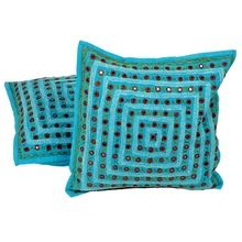 EMBRIODERY MIRRORWORK COLOURFUL CUSHION COVERS