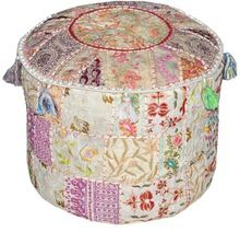 fabric embroidered ottomans covers