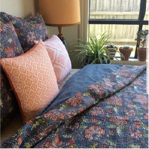 Fruit Kantha Throws