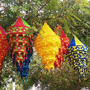 Handcrafted Fabric Decorative Lanterns