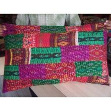 Kantha Old Ikat Sari Patchwork Pillows