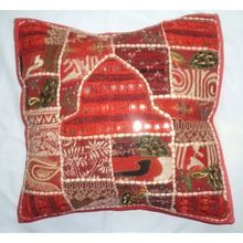 Old Sari Patchwork Lovely Cushion Cover