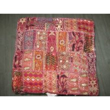 Patchwork Poufs Ottomans Floor Cushions