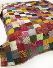 Silk Embriodery Patchwork Designer Home Decor Bedspreads