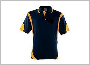 Black Custom Polo T-shirtl