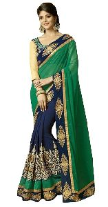 Party Wear Embroidered Sarees