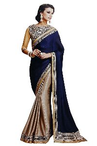 Party Wear Plain Sarees