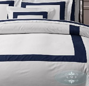Egyptian Cotton Banded Sateen Duvet Cover