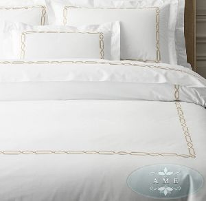 Egyptian Cotton Fretwork Duvet Cover