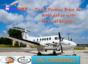 Medical Support Air Ambulance In Delhi At Low Fare