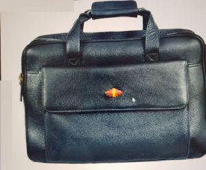 Leather Black Laptop Bag