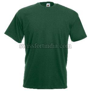 Green Mens Round Neck T-shirt