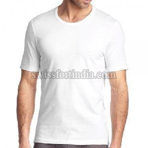 White Mens Round Neck T-shirt