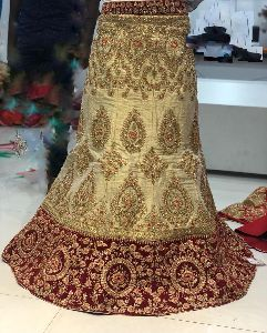 Traditional heavy silk bridal lehenga choli