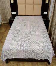 Cotton Hand Block Print Patchwork Kantha Quilt