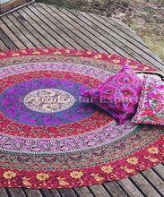 Ethnic Round Mandala Tapestries Cotton Boho Roundies Hippie Beach Blanket Throw