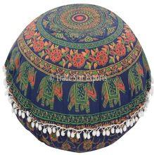 Large Mandala Indian Cotton Ethnic Beautiful Decorative Floor Cushion