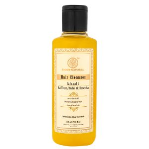KHADI NATURAL HERBAL SAFFRON,TULSI and REETHA HAIR CLEANSER