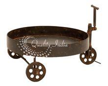 Antique Design Metallic Round Shape Trolley