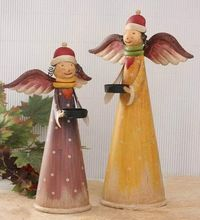 Metal Crafted Tall Christmas Decorative Fairy Angel Figurine