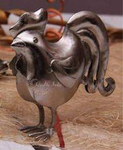 Metallic Bird Figurine Gift Article