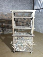 Reclaimed Wooden Three Shelves And Storage Kitchen Cabinet