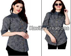 Cotton Grey Printed Shirts