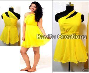 Georgette Yellow Dress