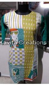 Linen Printed Kurtis