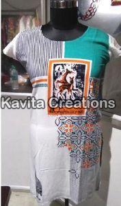 Srtkrt5001 Rayon Printed Kurtis