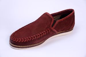 Casual Moccasin Genuine Suede Slip On Shoes