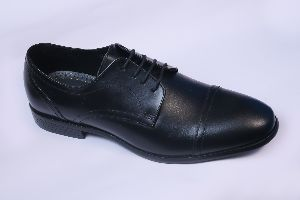 Genuine Leather Formal Toe Cap Derby Shoes