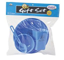 Children Gift Set With Plate Bowl And Glass