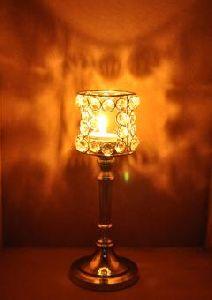 Elegant Crystal Decorative Vintage Candle Holder Stand