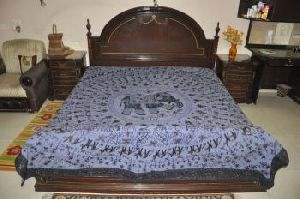 Elephant Cotton Bedspreads Embroidered Bed Cover