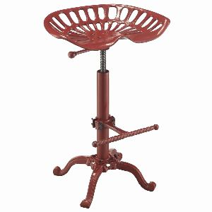 Red finish Tractor seat Bar Stool