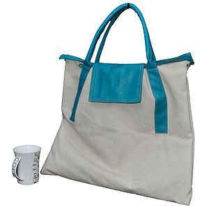 canvas and artificial leather combination bag