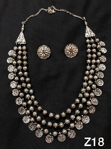 Afghan Coin Ball Necklace Set
