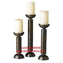 Bronze Pillar Candle Holder