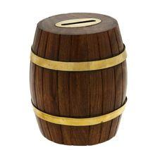 Barrel Shaped Money Cash Box