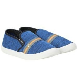 Mens Slip On Blue Canvas Shoes