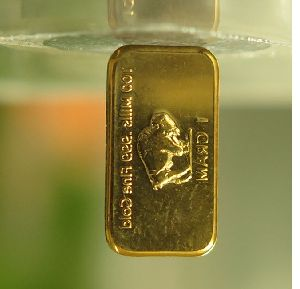 1 Gram .100 Mils 24k pure Gold Plated Buffalo Bar